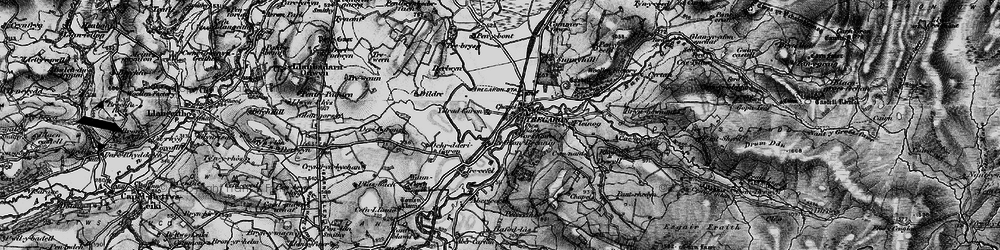 Old map of Afon Groes in 1898