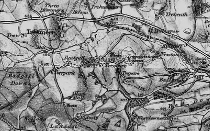 Old map of Lanzion in 1895