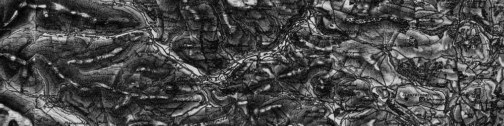 Old map of Ael-y-coryn in 1897