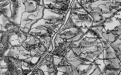 Old map of Tregony in 1895