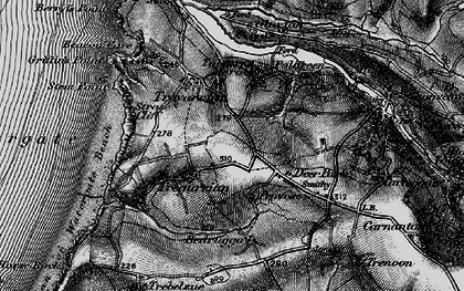 Old map of Tregurrian in 1895