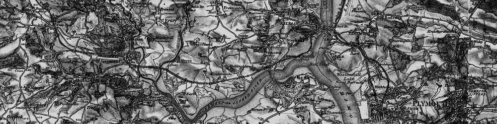 Old map of Wivelscombe in 1896