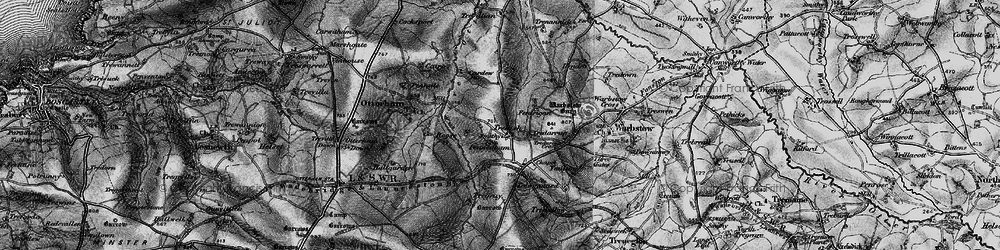 Old map of Youlstone in 1895