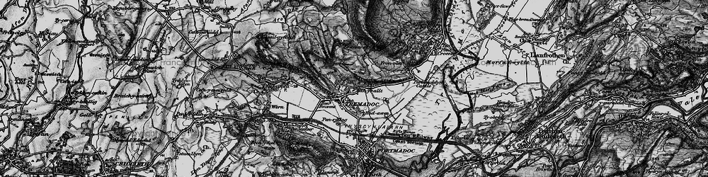 Old map of Tremadog in 1899