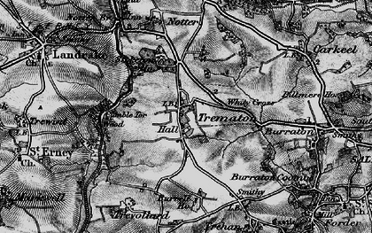 Old map of Whity Cross in 1896
