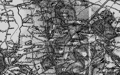 Old map of Aelwyd-uchaf in 1897