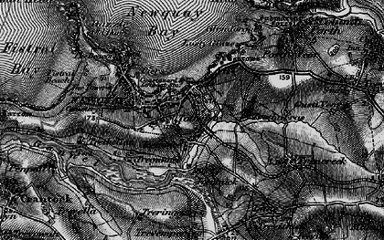 Old map of Trenance in 1895