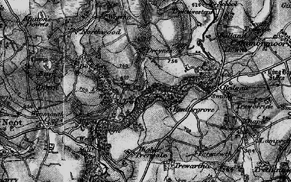 Old map of Whitebarrow Downs in 1895
