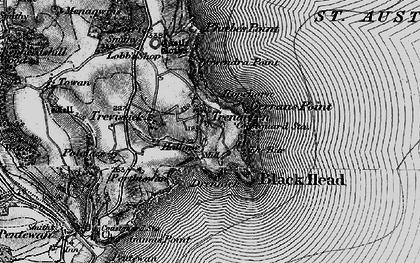 Old map of Trenarren in 1895