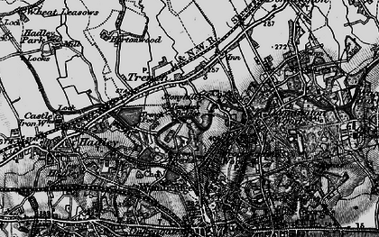 Old map of Trench in 1897