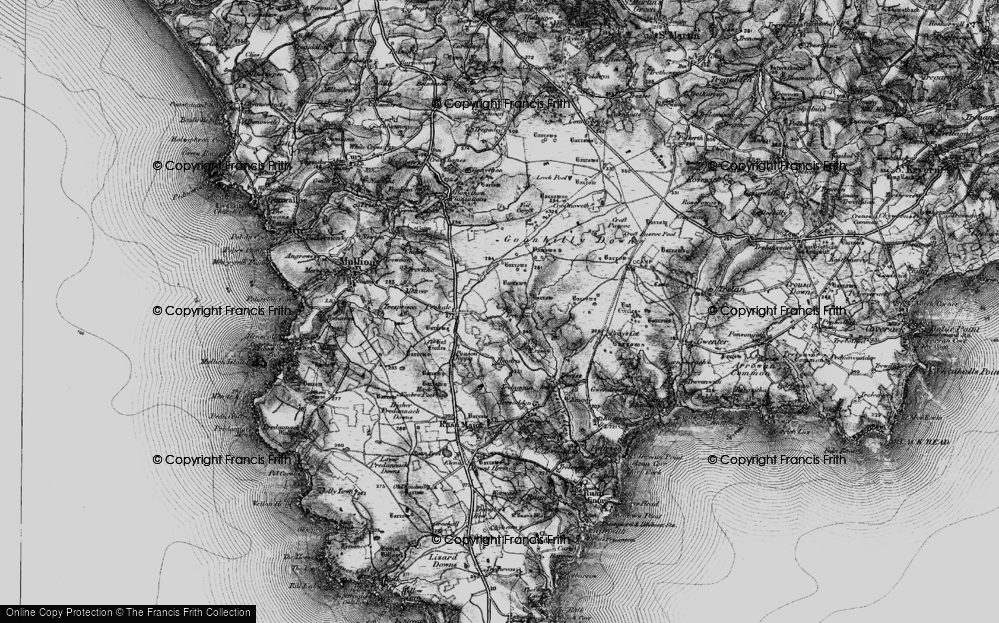 Old Map of Historic Map covering Leech Pool in 1895