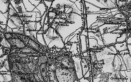 Old map of Trentham in 1897