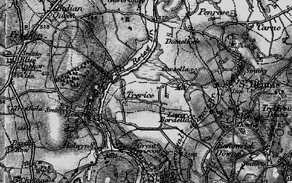 Old map of Trerice Manor in 1895