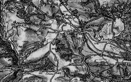 Old map of Bake Manor in 1896
