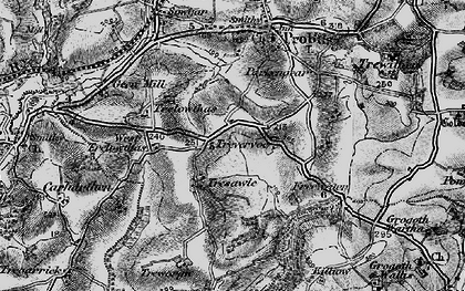 Old map of West Trelowthas in 1895