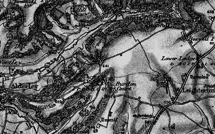 Old map of Yewtree Hill in 1897