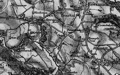 Old map of Tolcarne Tor in 1895
