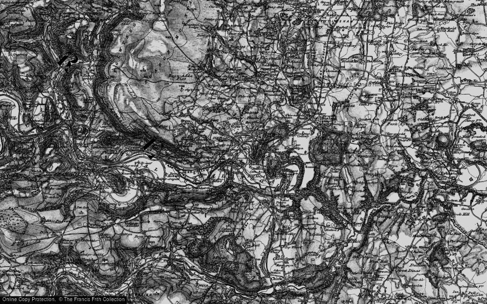Old Map of Trevor, 1897 in 1897