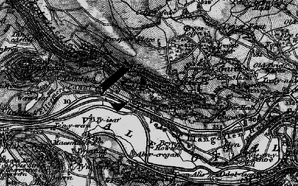 Old map of Abercregan in 1897