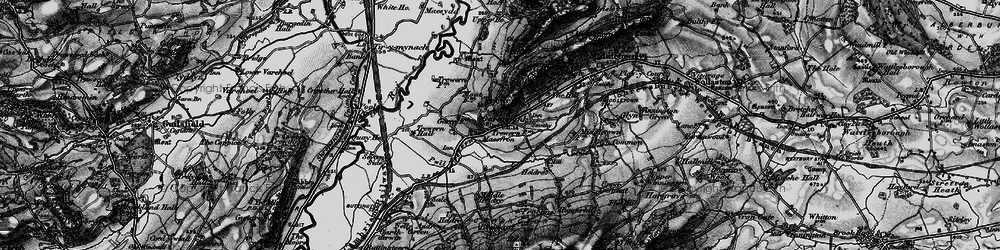 Old map of Yewtree Ho in 1897