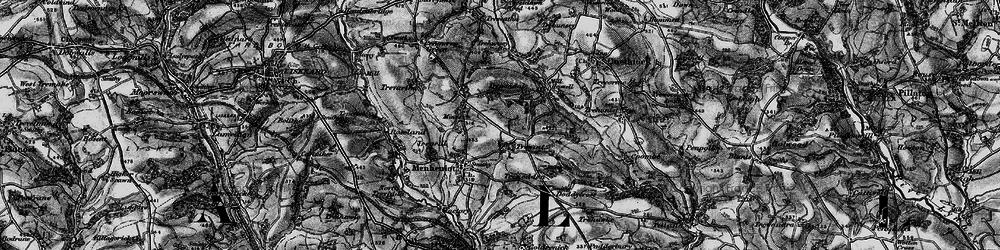 Old map of Westdown Wood in 1896