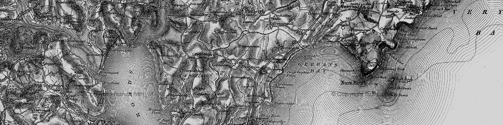 Old map of Trewithian in 1895