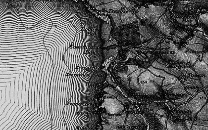 Old map of Treyarnon Bay in 1895