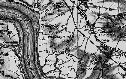 Old map of Trimley Lower Street in 1896