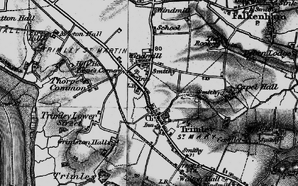 Old map of Trimley St Martin in 1896