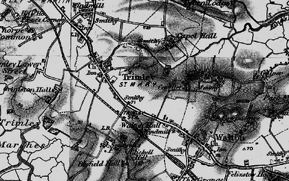 Old map of Trimley St Mary in 1896