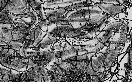 Old map of Bagmore in 1898