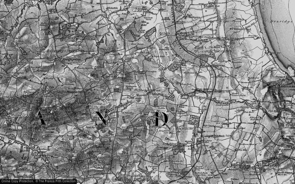 Old Map of Historic Map covering Bailiff's Letch in 1897