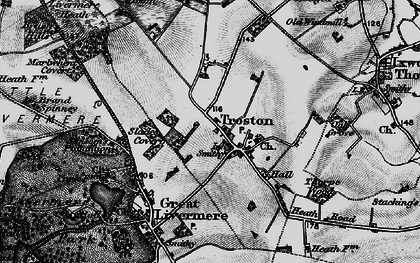Old map of Troston in 1898