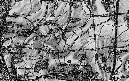 Old map of Withy Wells in 1898