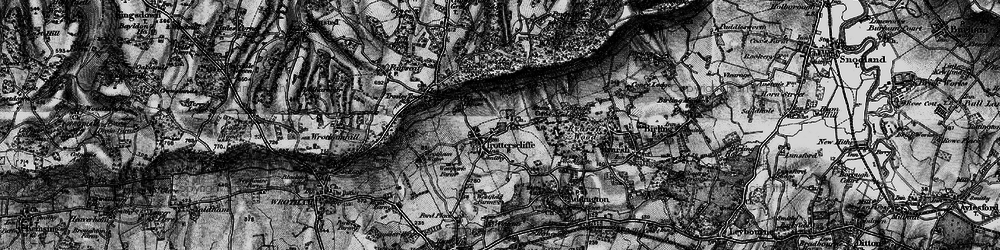 Old map of Whitehorse Wood in 1895