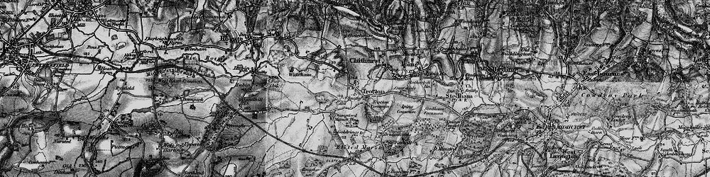 Old map of Trotton in 1895