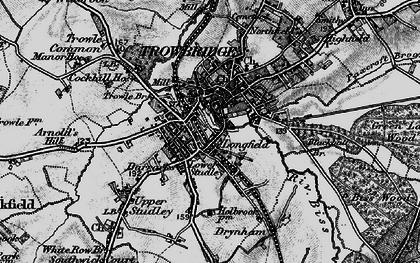 Old map of Trowbridge in 1898