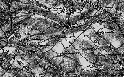 Old map of Trowley Bottom in 1896