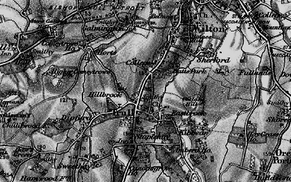Old map of Trull in 1898