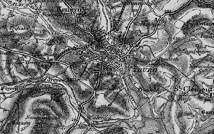 Old map of Truro in 1895