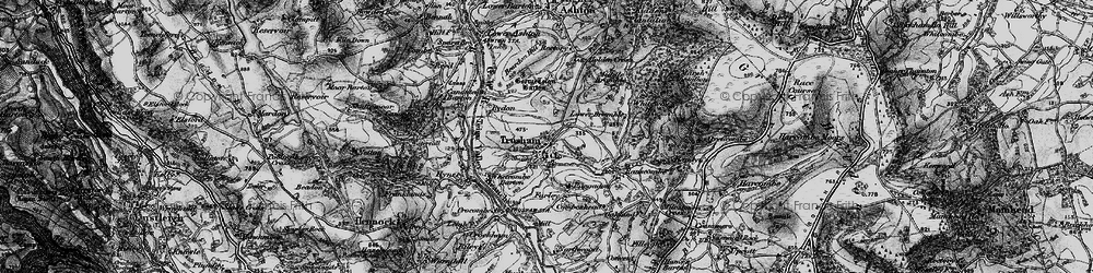 Old map of Whiteway Wood in 1898