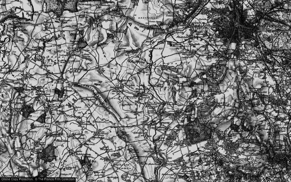Old Map of Historic Map covering Awbridge Br in 1899