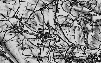 Old map of Awbridge Br in 1899