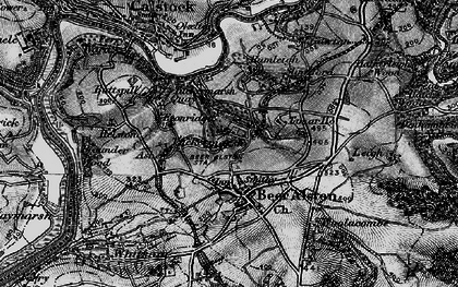 Old map of Ashen in 1896