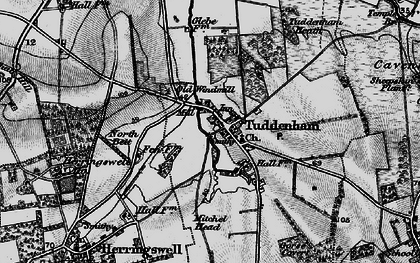 Old map of Woodsway Stud in 1898