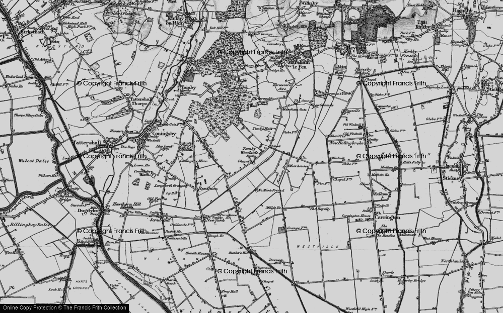 Old Map of Tumby Woodside, 1899 in 1899