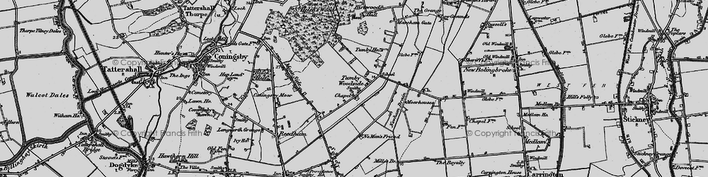 Old map of Tumby Woodside in 1899
