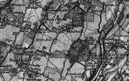 Old map of Tunstall in 1895