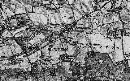Old map of Tunstall in 1897