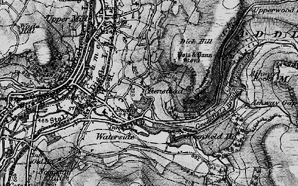 Old map of Ashway Rocks in 1896